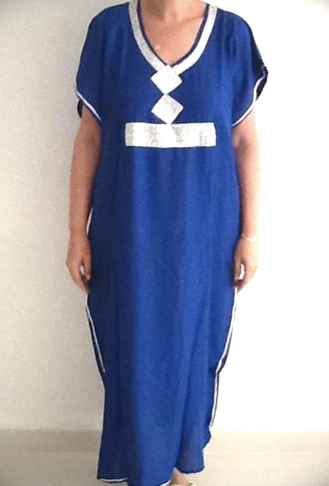 Blue traditional djellaba