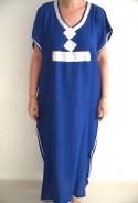 Djellaba femme bleue et argent