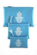 Lot de 3 pochettes bleues