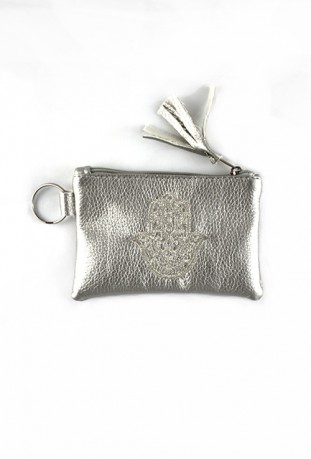Brown hand pouch from Fatma