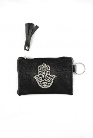 Black hand pouch from Fatma