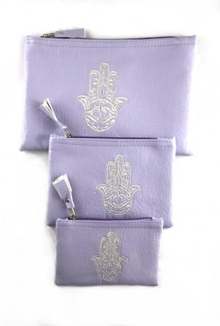Set of 3 mauve pockets