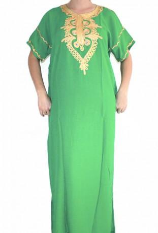 Djellaba black and gold woman Casablanca