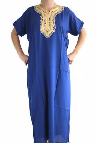 Djellaba femme bleue foncé