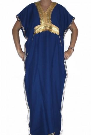 Djellaba femme noir et or