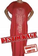 Djellaba red woman in destocking