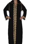 Djellaba woman black and gold with hood