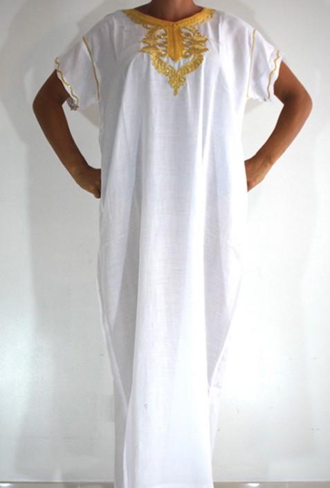 Djellaba femme blanc