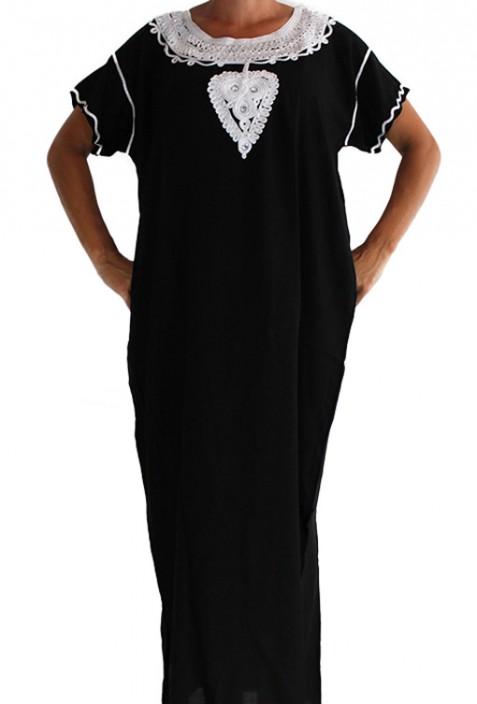 Djellaba femme noir et blanc Casablanca