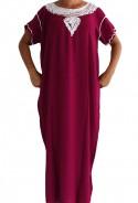 Djellaba femme violette Essaouira