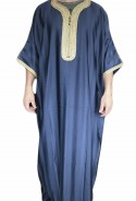 Chilaba hombre de color Agadir azul medina