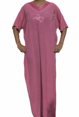 Chilaba mujer de lentejuelas de color púrpura