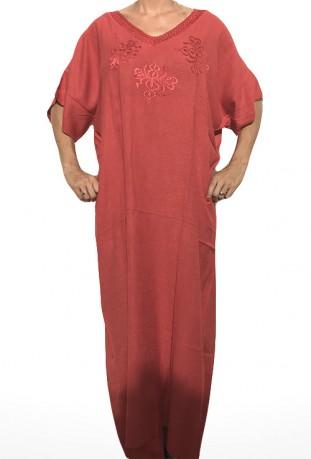 Djellaba femme rouge broderies Berbère