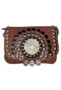 Braun Wildlederhandtasche