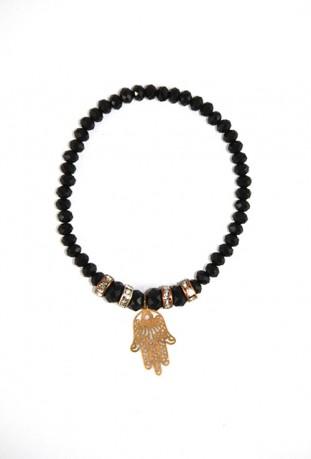 Black and gold bracelet flower of the desert