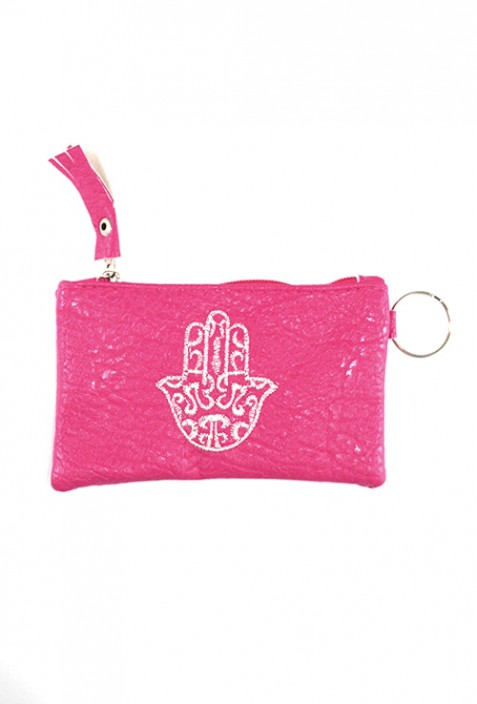 Pink hand pouch from Fatma