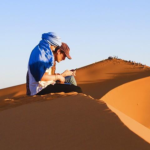 Merzouga, bivouacs dans le désert marocain