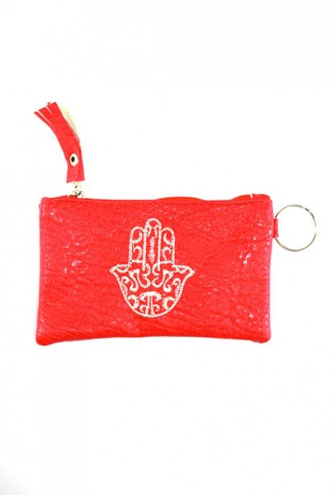 Rosa Brieftasche Hand von Fatma