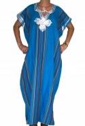 Djellaba bleue traditionnelle