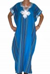 Chilaba tradicional de color azul