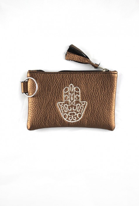 White hand pouch from Fatma