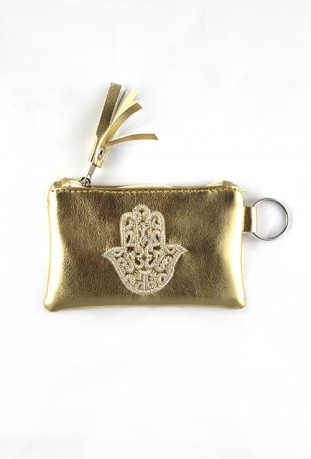 Gold hand pouch from Fatma