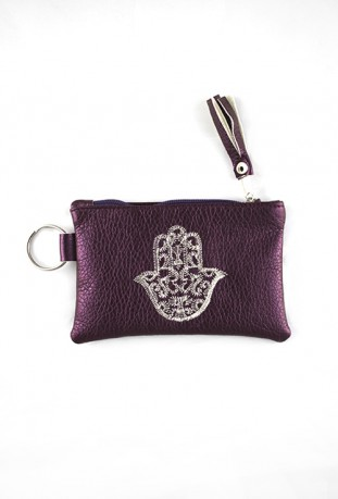 Handmade purple purse from Fatma