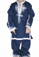 Djellaba child dark blue