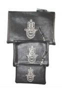Set of 3 pockets black