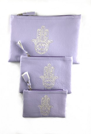 Set of 3 mauve pockets