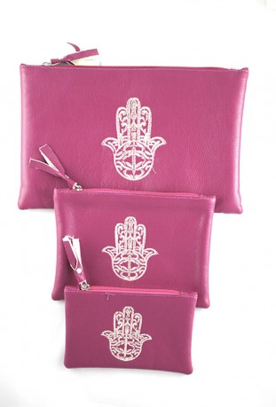 Set of 3 pink pockets