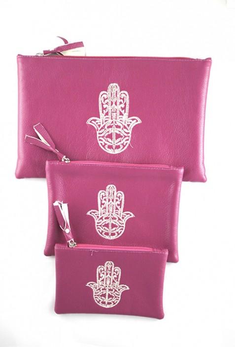 Set of 3 pink pockets