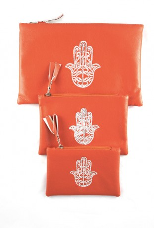 Lot de 3 pochettes orange