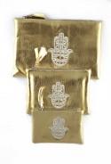 Set of 3 gold pockets