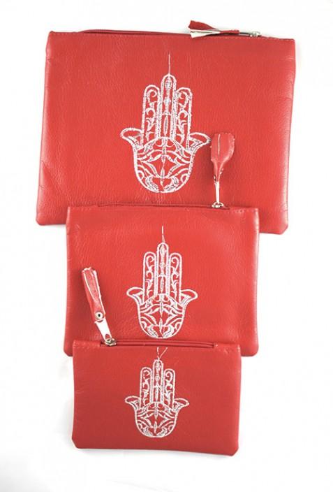 Set of 3 orange pockets