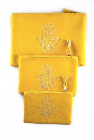 Set von 3 blassrosa Taschen