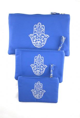 Conjunto de 3 bolsillos de color rosa pálido