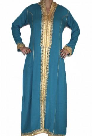Djellaba Frau grün und gold