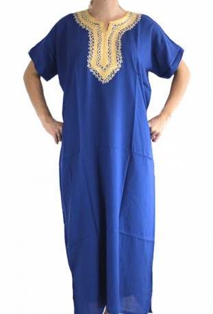 Djellaba dark blue woman