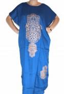 Mujer azul Chilaba mano Fatma