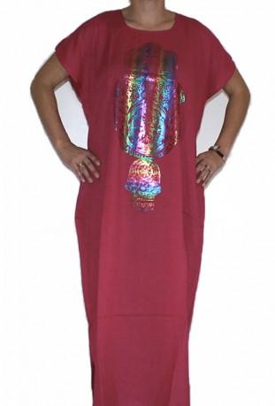 Mujer Chilaba negro mano de Fatma