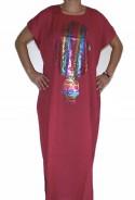 Djellaba garnet for woman hand of fatma