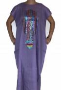 Djellaba woman purple hand of fatma