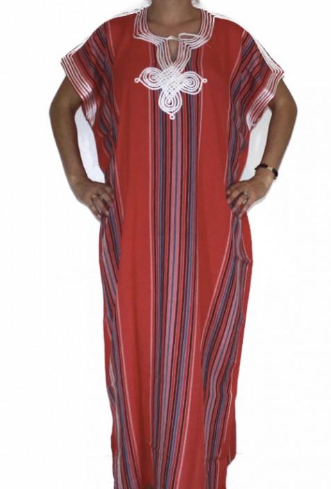 Djellaba red woman Rabat