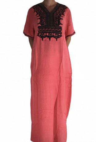 Djellaba woman pink pailletes