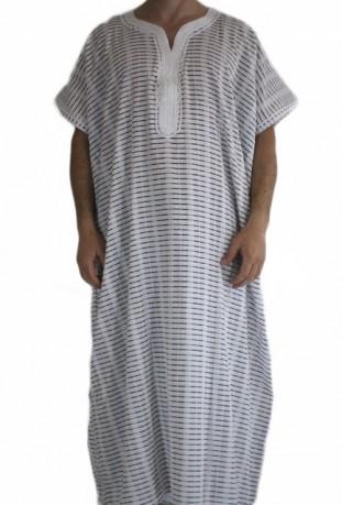 Djellaba gray striped man