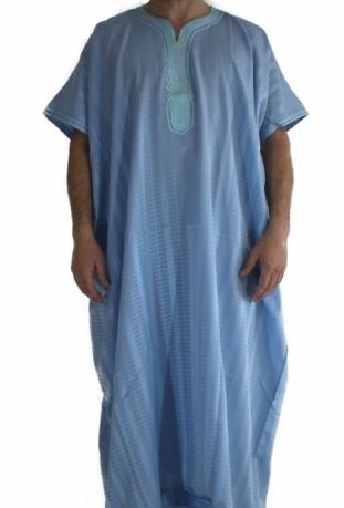 Chilaba hombre de color azul medina
