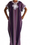 Djellaba femme violette traditionnelle