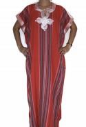 Djellaba femme rouge Rabat