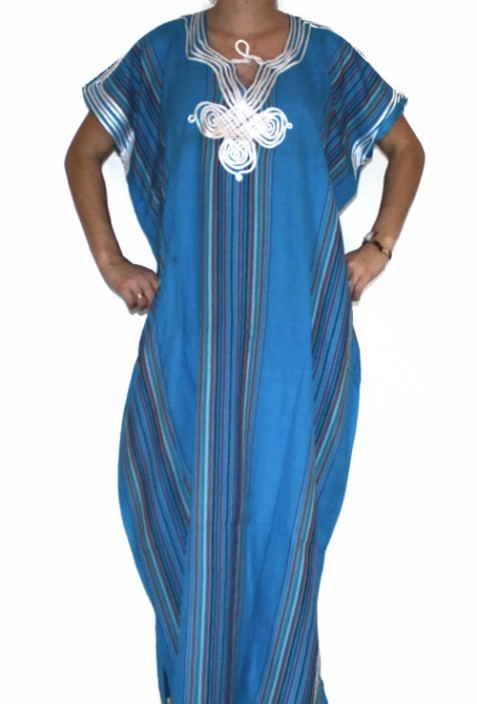 Djellaba woman black and silver Fez